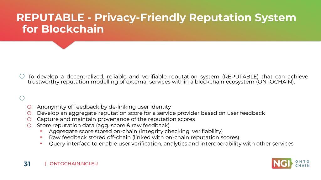 | ONTOCHAIN.NGI.EU REPUTABLE - Privacy-Friendly...