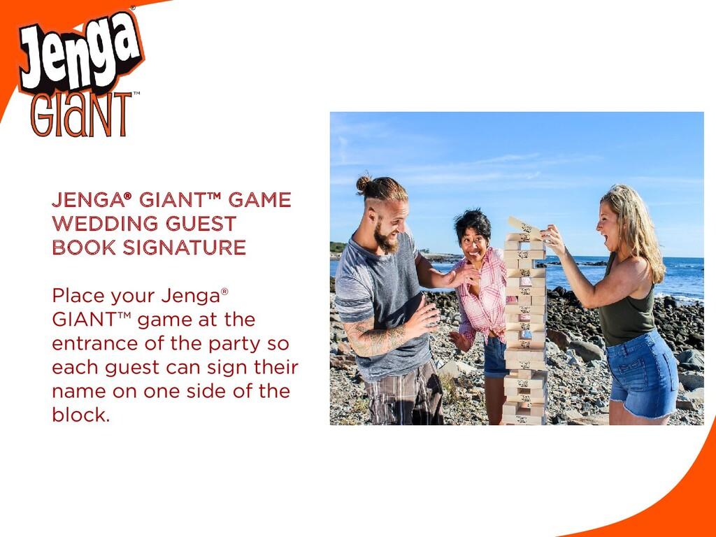 JENGA® GIANT™ GAME WEDDING GUEST BOOK SIGNATURE...