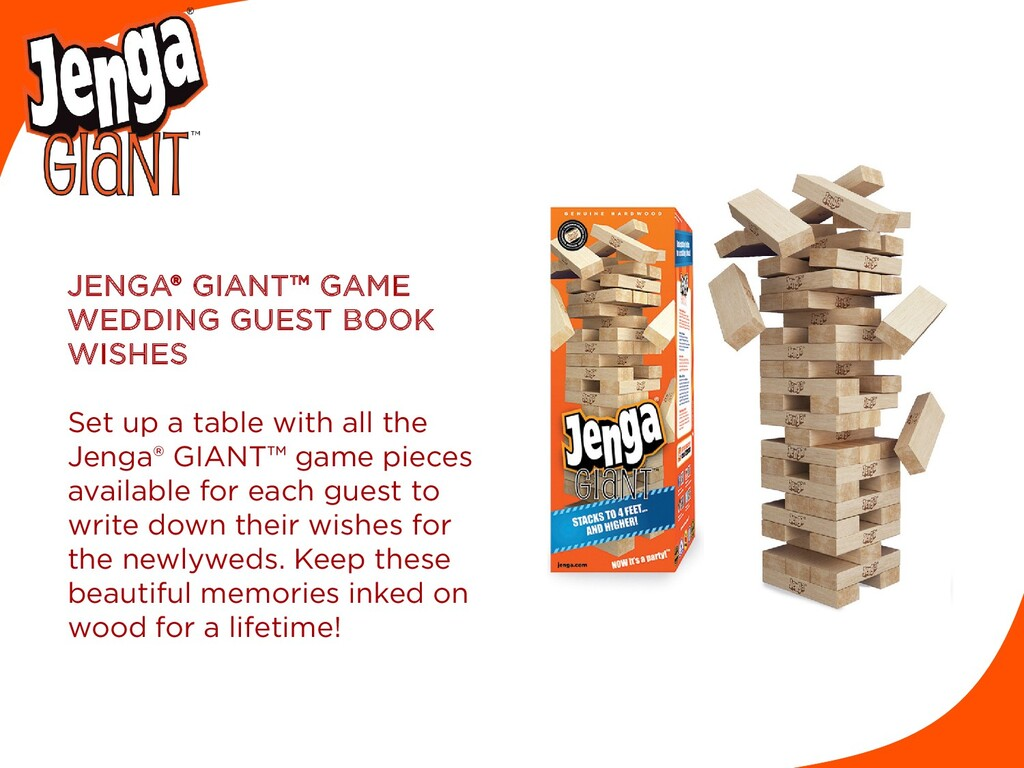 JENGA® GIANT™ GAME WEDDING GUEST BOOK WISHES Se...