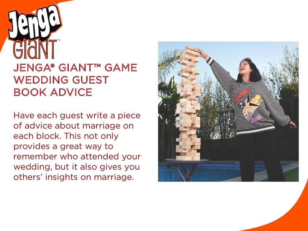 JENGA® GIANT™ GAME WEDDING GUEST BOOK ADVICE Ha...