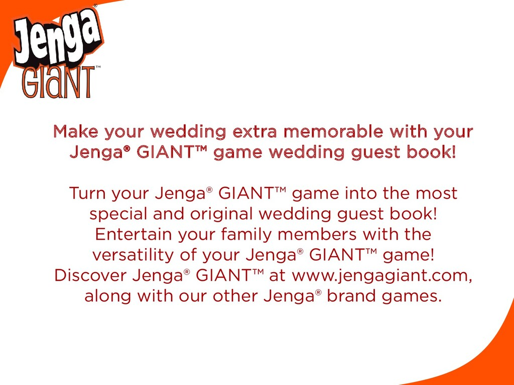 Make your wedding extra memorable with your Jen...