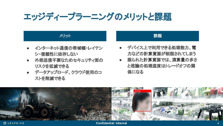 6 エッジディープラーニング市場の拡⼤ IoTデバイスの数は着実に増加し、扱うデータの量も数年...
