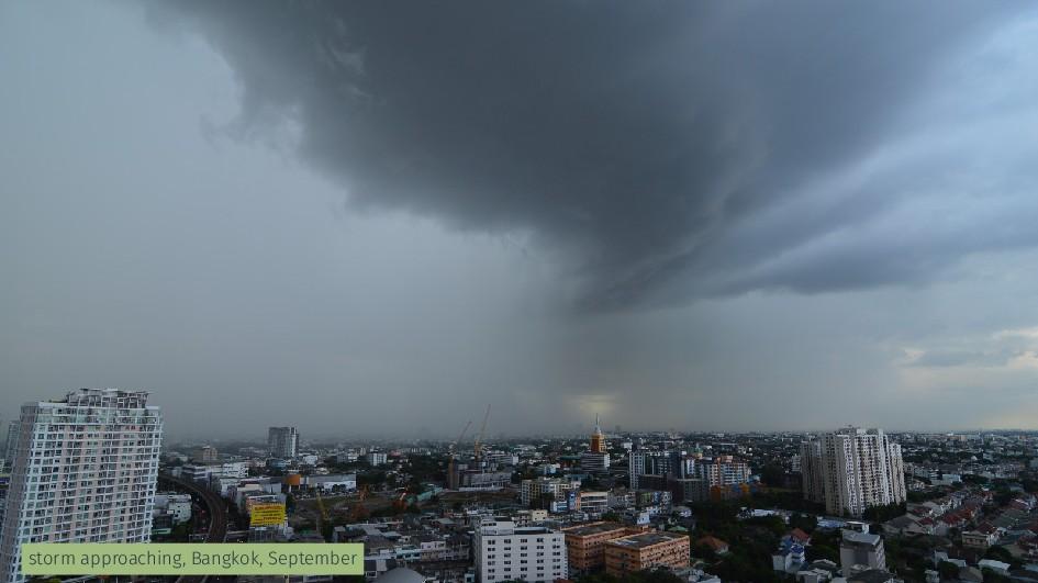 storm approaching, Bangkok, September