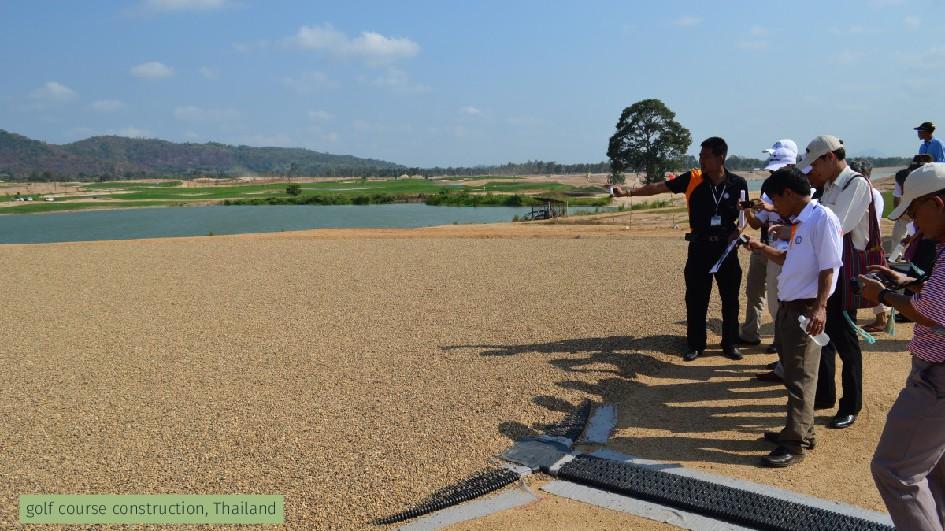 golf course construction, Thailand