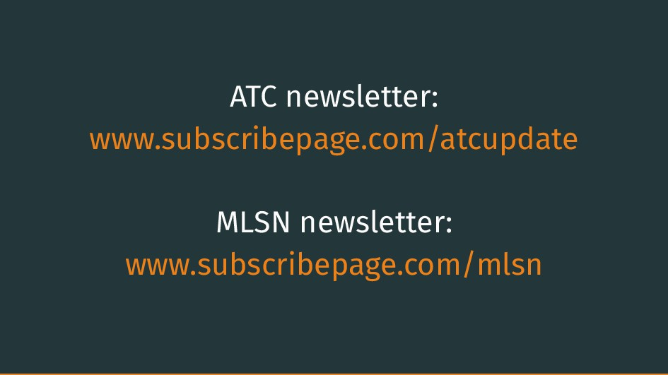 ATC newsletter: www.subscribepage.com/atcupdate...