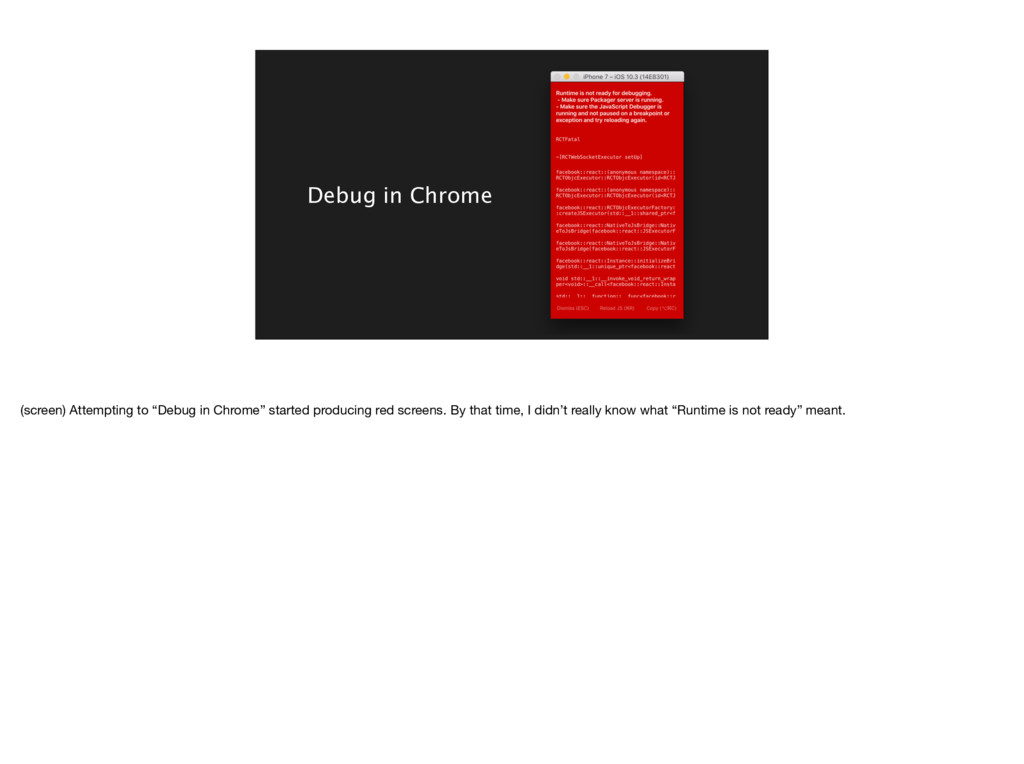 "Debug in Chrome (screen) Attempting to ""Debug i..."