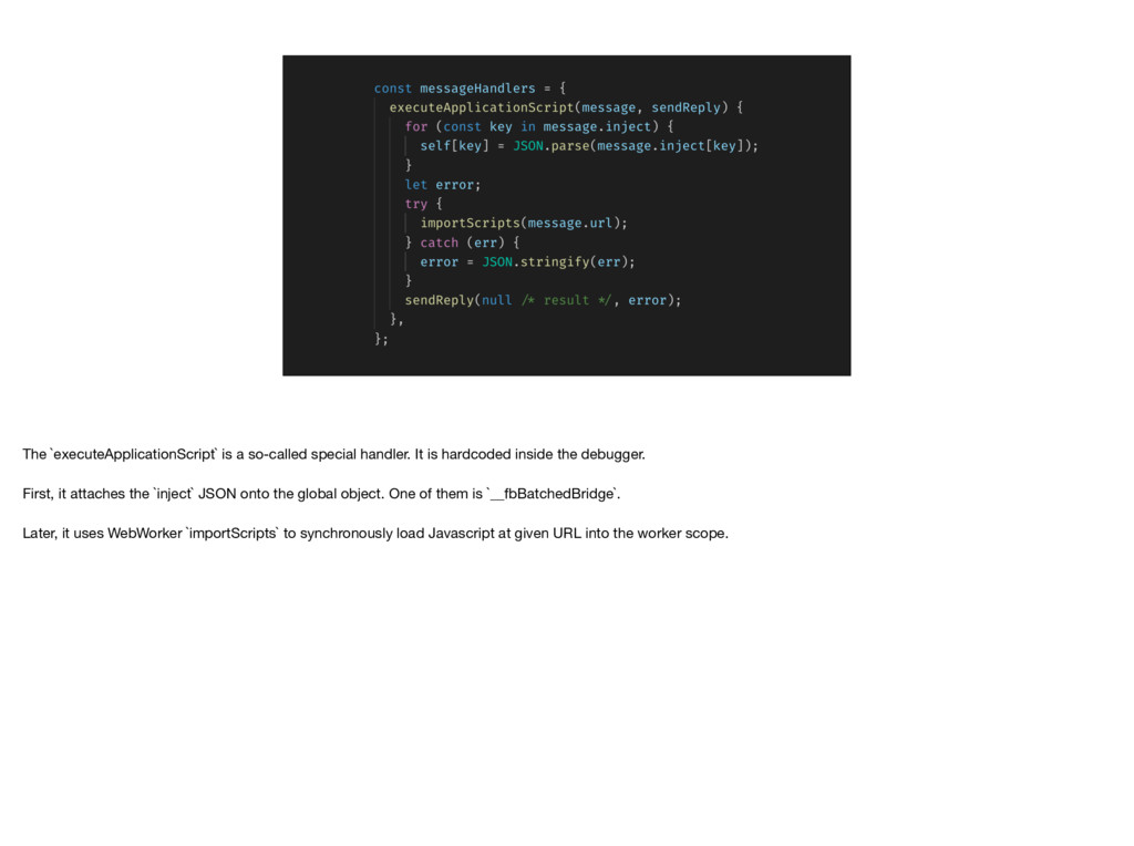 The `executeApplicationScript` is a so-called s...