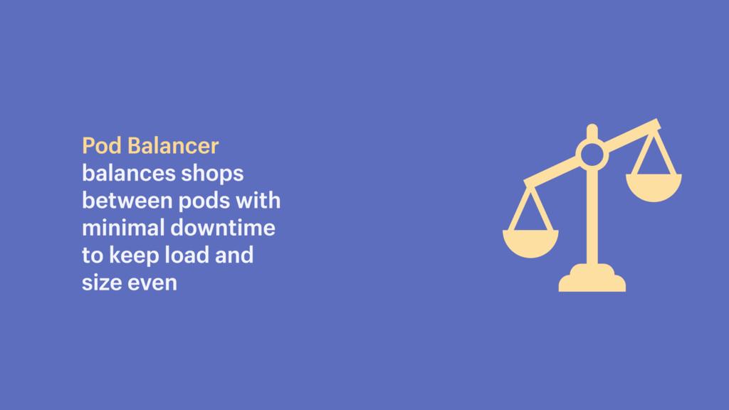 Pod Balancer balances shops between pods with m...
