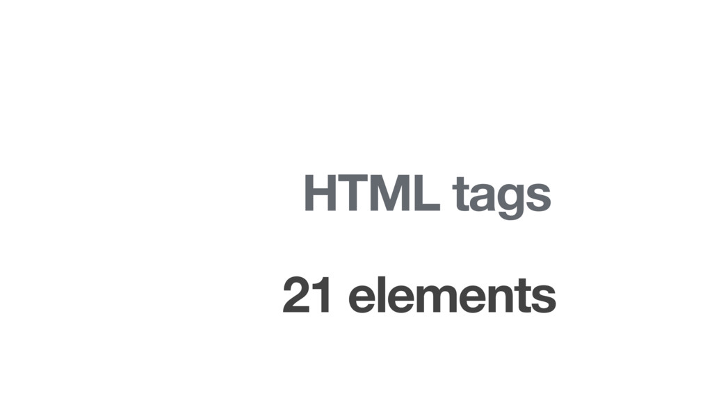 HTML tags 21 elements