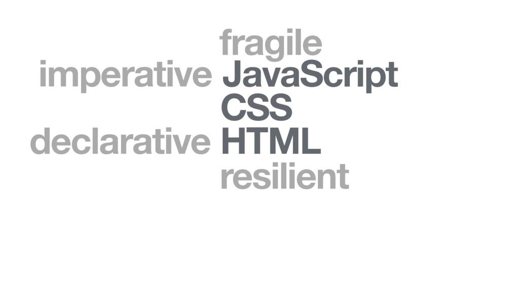 HTML CSS JavaScript declarative imperative resi...