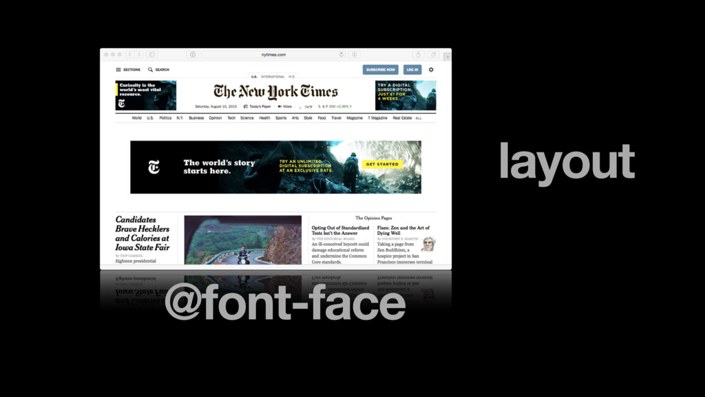 layout @font-face