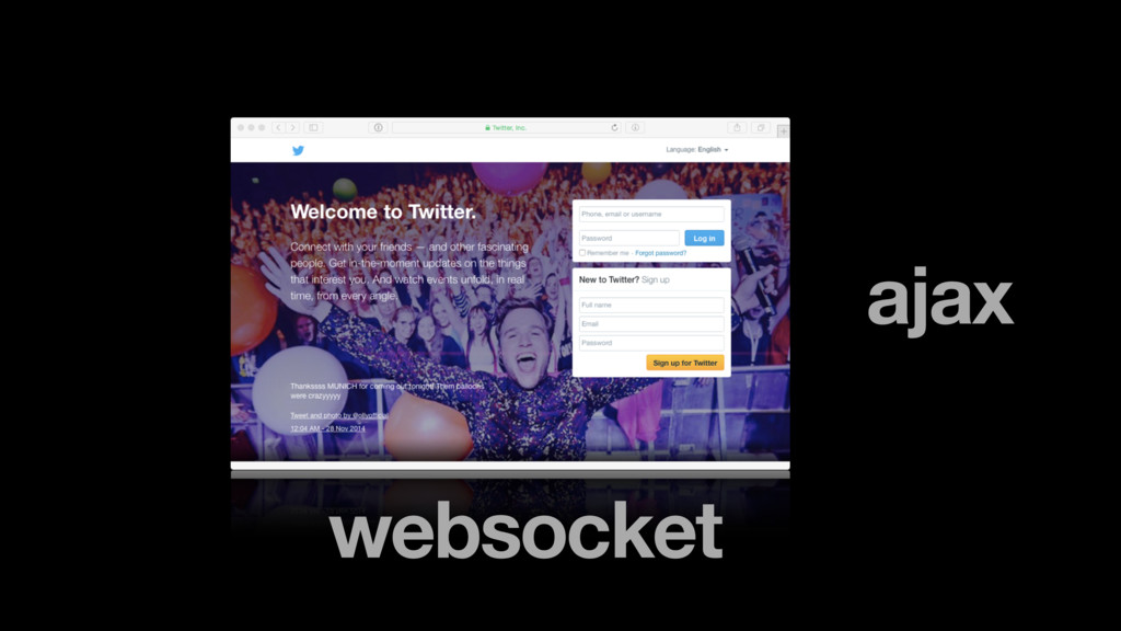 ajax websocket