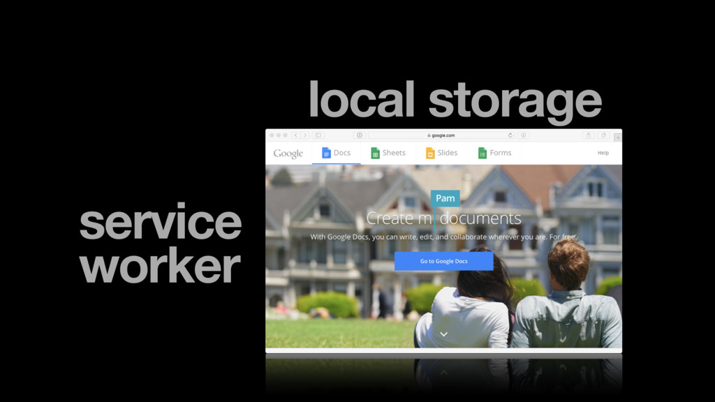 local storage service worker