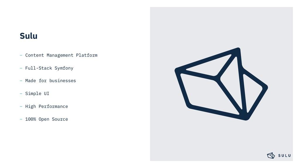 Sulu – Content Management Platform – Full-Stack...