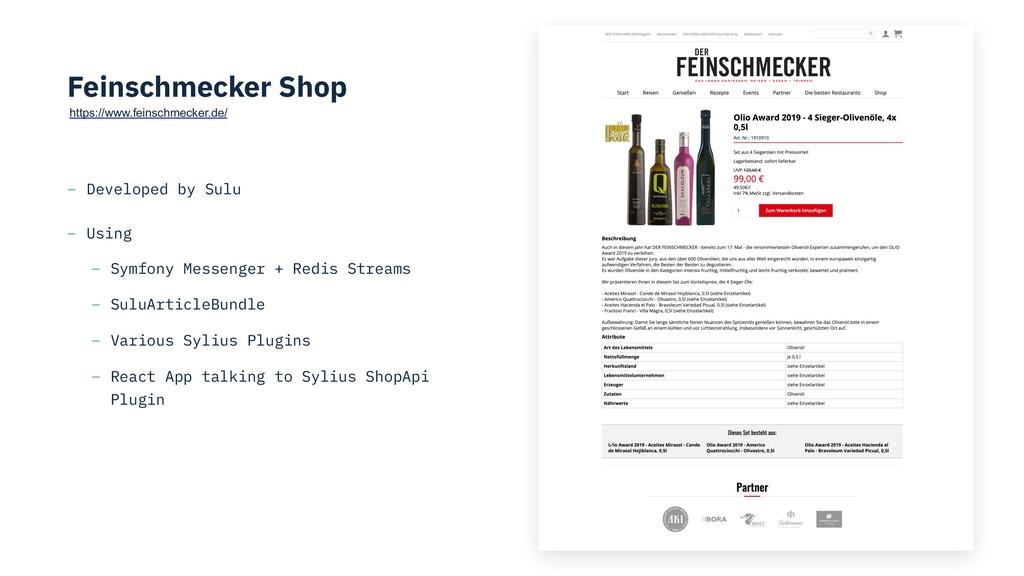 Feinschmecker Shop – Developed by Sulu – Using ...