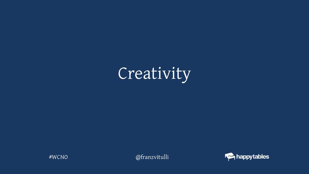 Creativity @franzvitulli #WCNO