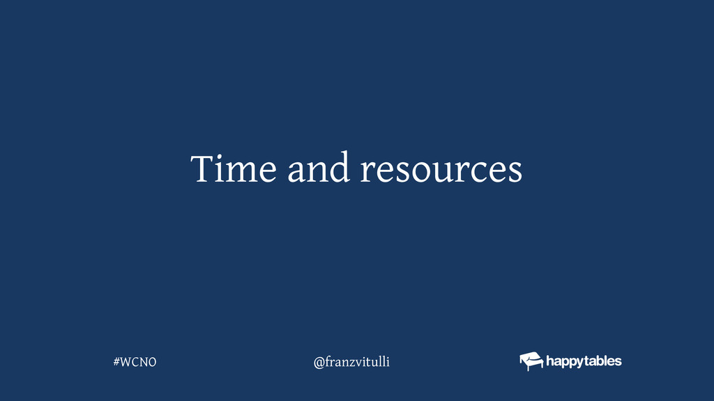 Time and resources @franzvitulli #WCNO