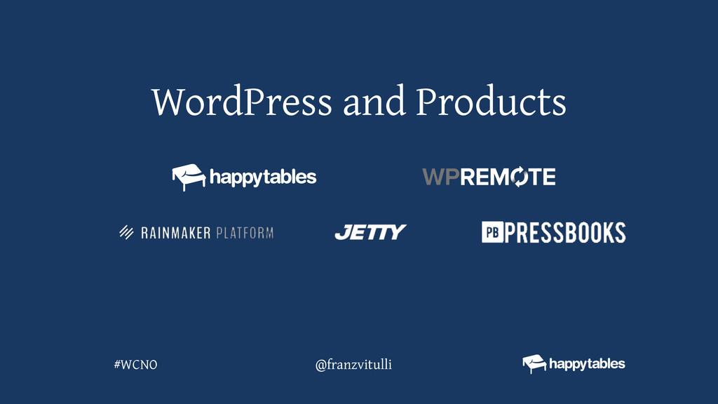 WordPress and Products @franzvitulli #WCNO