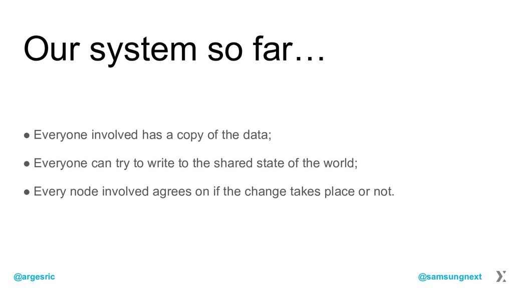 @argesric @samsungnext Our system so far… ● Eve...
