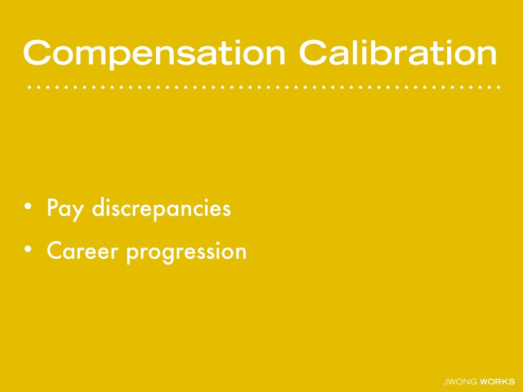 JWONG WORKS Compensation Calibration • Pay disc...