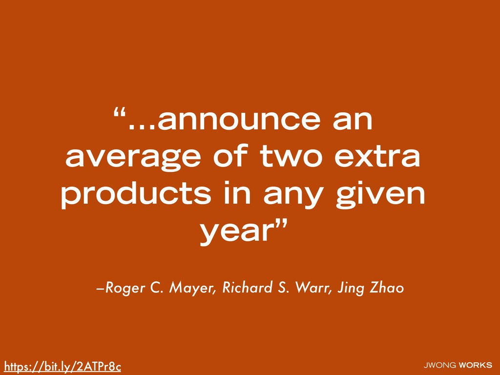 JWONG WORKS –Roger C. Mayer, Richard S. Warr, J...