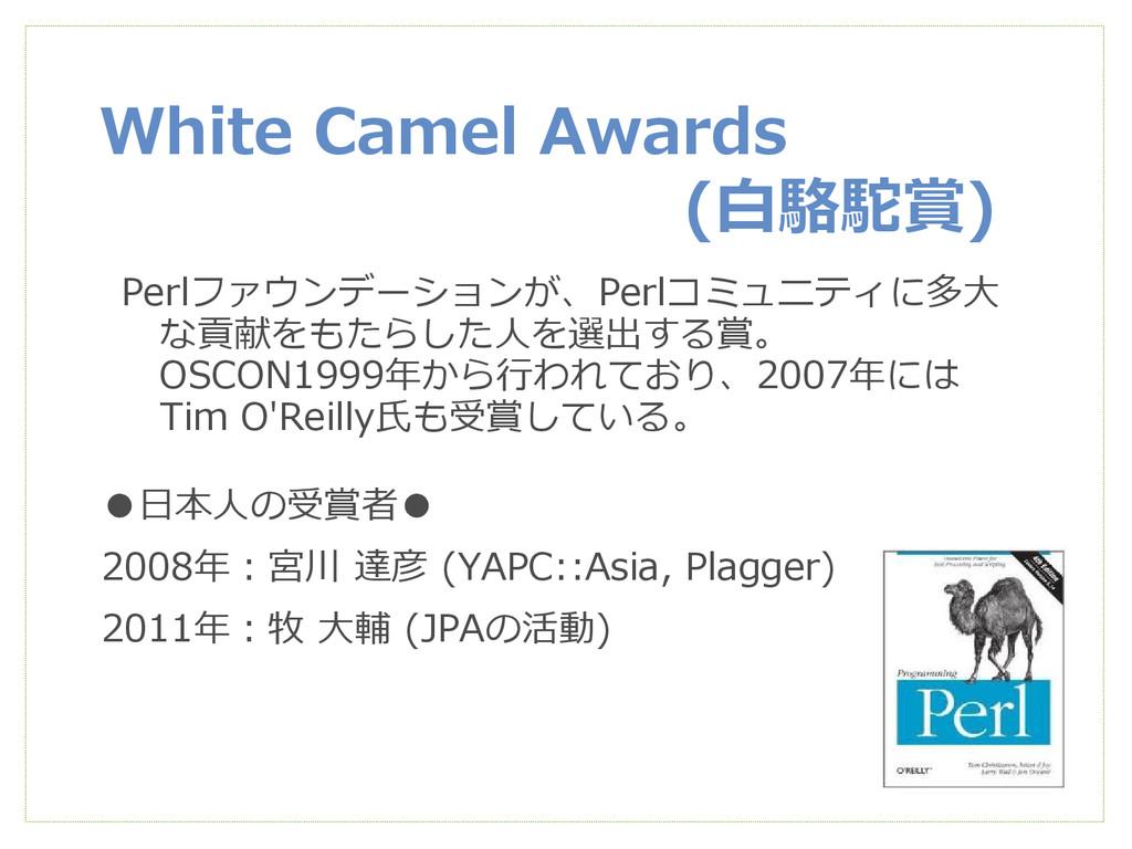 White Camel Awards (白駱駝賞) Perlファウンデーションが、Perlコミ...