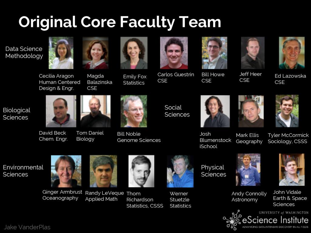 Jake VanderPlas Original Core Faculty Team Data...