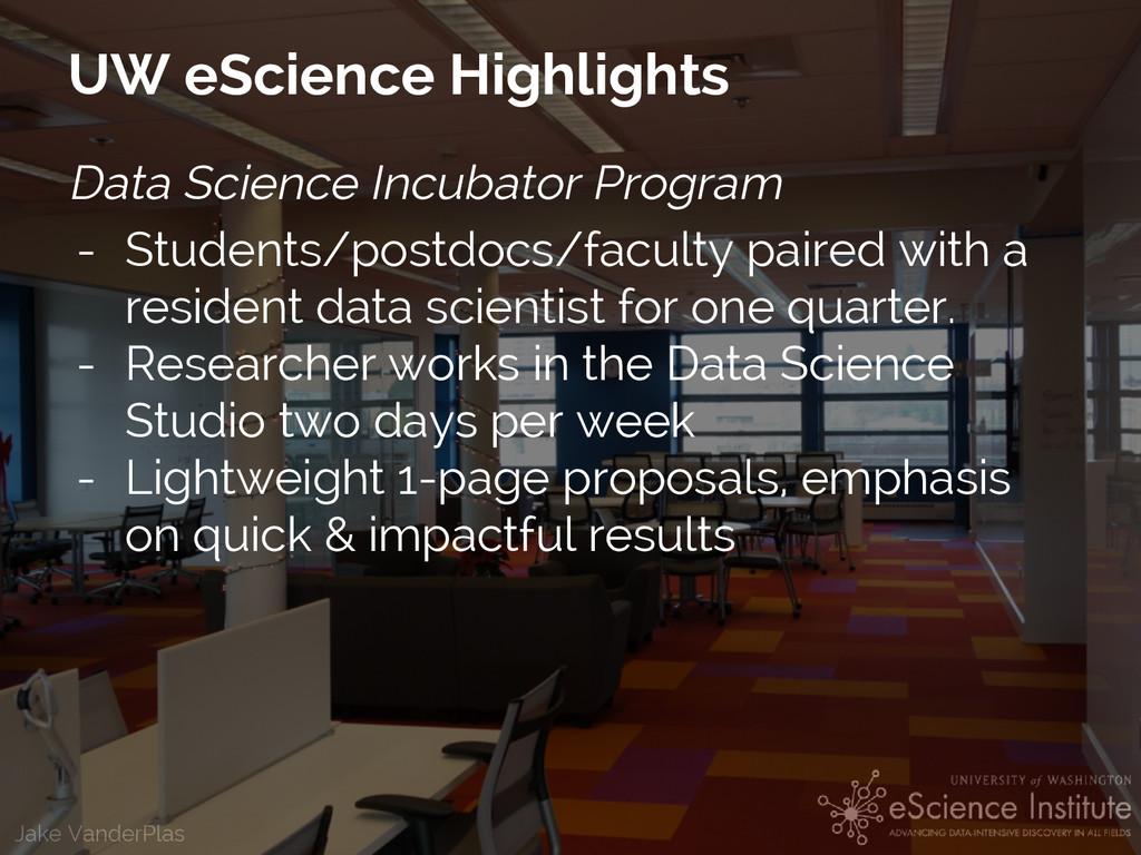 Jake VanderPlas UW eScience Highlights Data Sci...