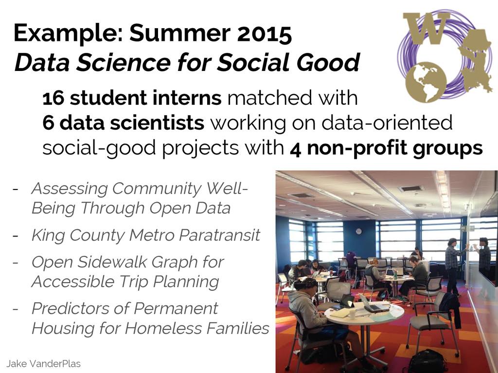 Jake VanderPlas Example: Summer 2015 Data Scien...