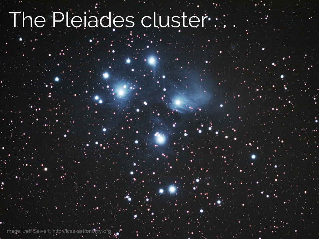 Jake VanderPlas The Pleiades cluster . . . Imag...