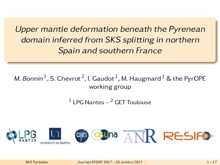 Upper mantle deformation beneath the Pyrenean d...