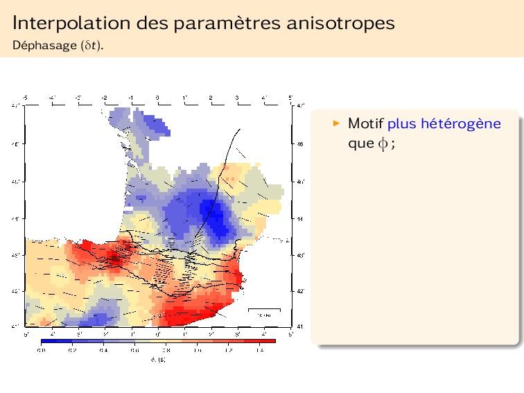 Interpolation des paramètres anisotropes Déphas...
