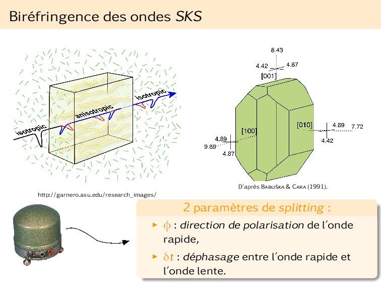 Biréfringence des ondes SKS http://garnero.asu....