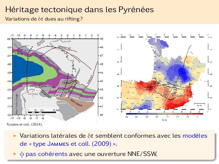 Héritage tectonique dans les Pyrénées Variation...