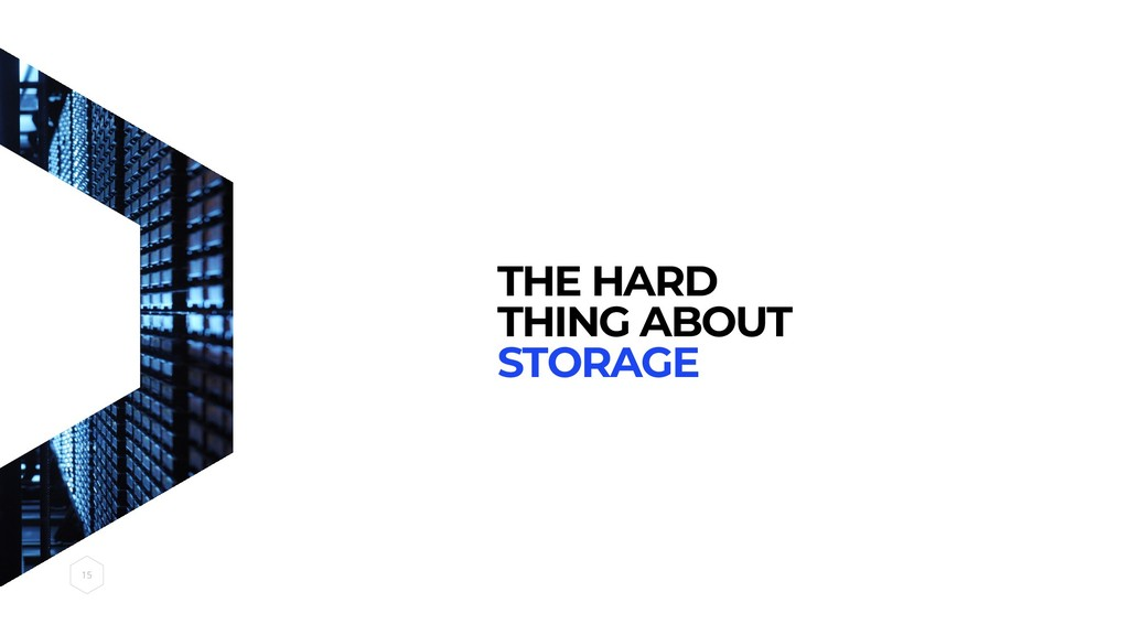 THE HARD THING ABOUT STORAGE