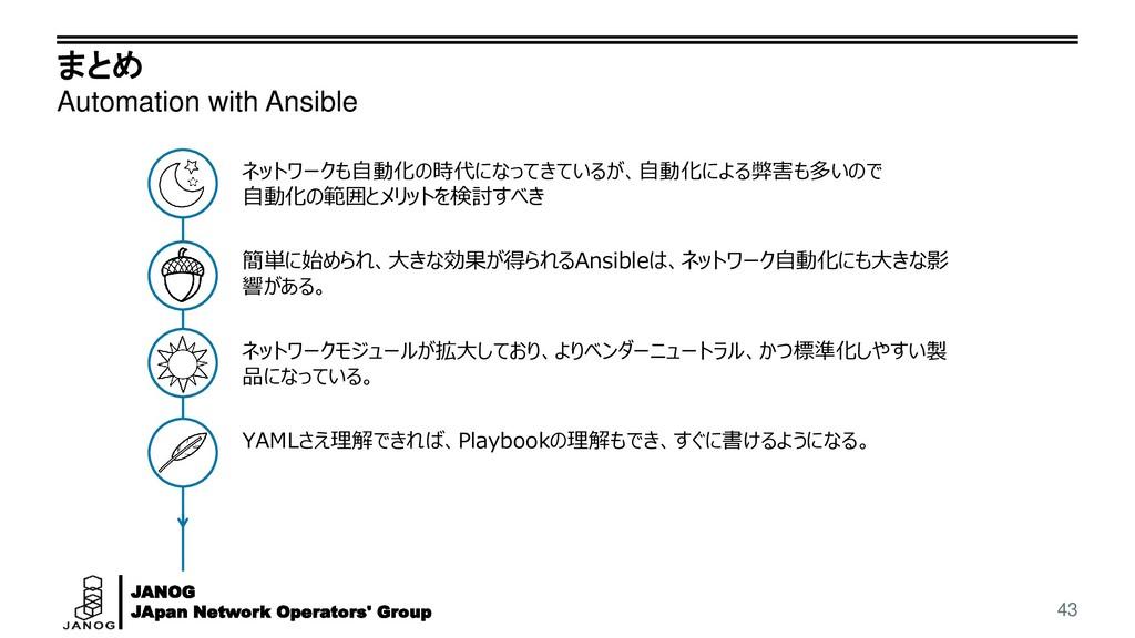 JANOG JApan Network Operators' Group まとめ Automa...
