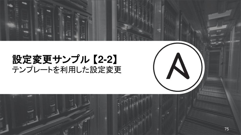 設定変更サンプル 【2-2】 テンプレートを利用した設定変更 75