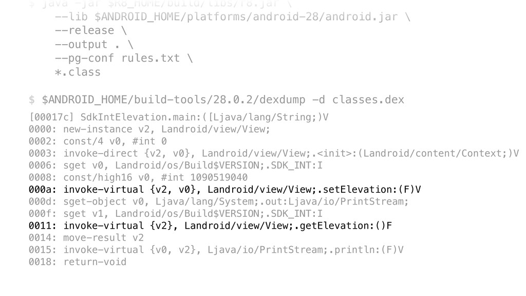 $ java -jar $R8_HOME/build/libs/r8.jar 