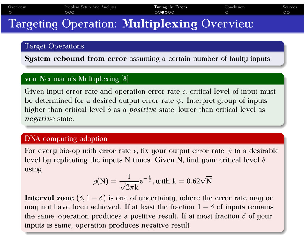 Overview Problem Setup And Analysis Tuning the ...