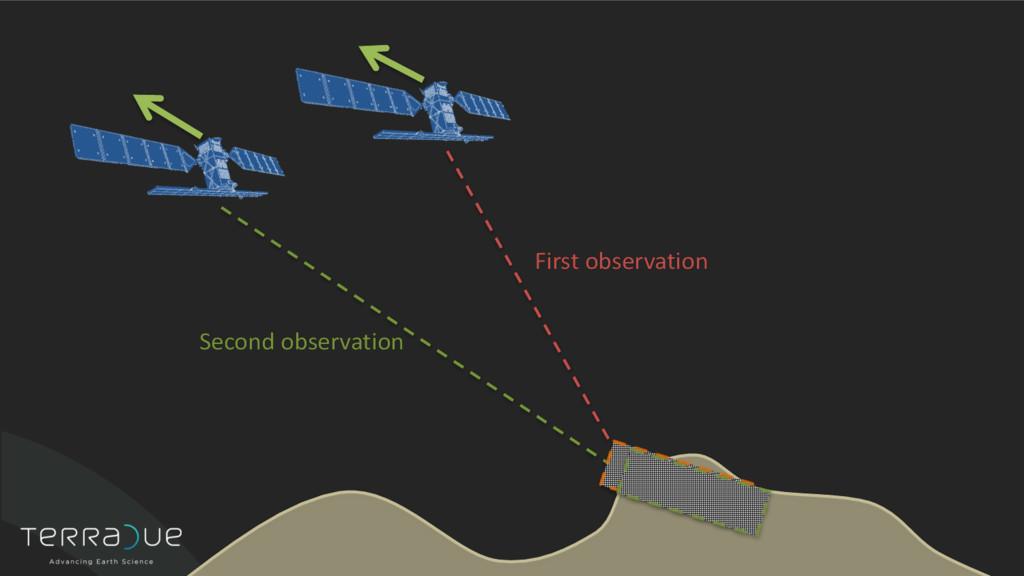 First observation Second observation