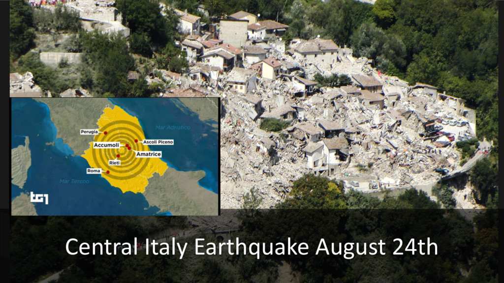 Central Italy Earthquake August 24th