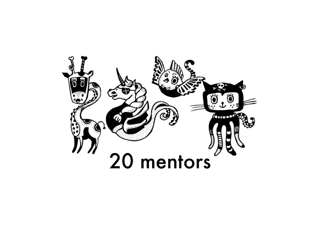 20 mentors
