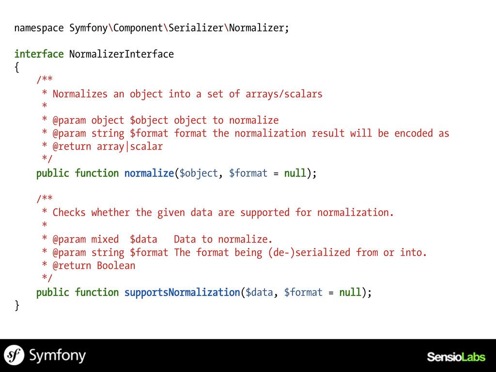 namespace Symfony\Component\Serializer\Normaliz...