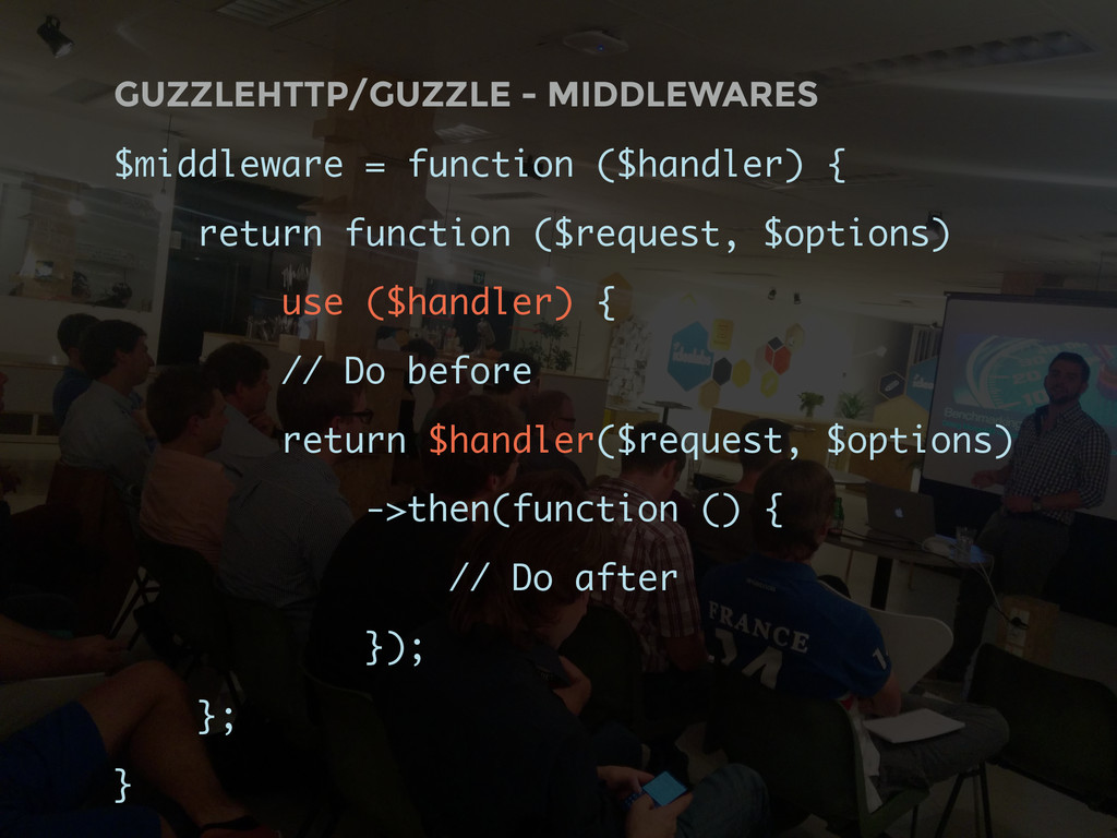 GUZZLEHTTP/GUZZLE - MIDDLEWARES $middleware = f...