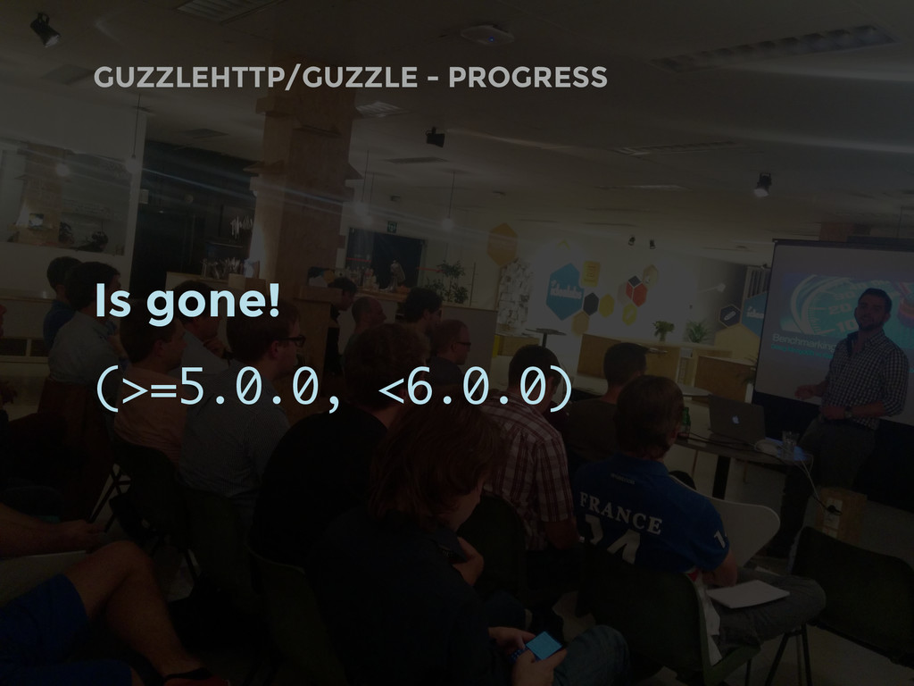 GUZZLEHTTP/GUZZLE - PROGRESS Is gone! (>=5.0.0,...