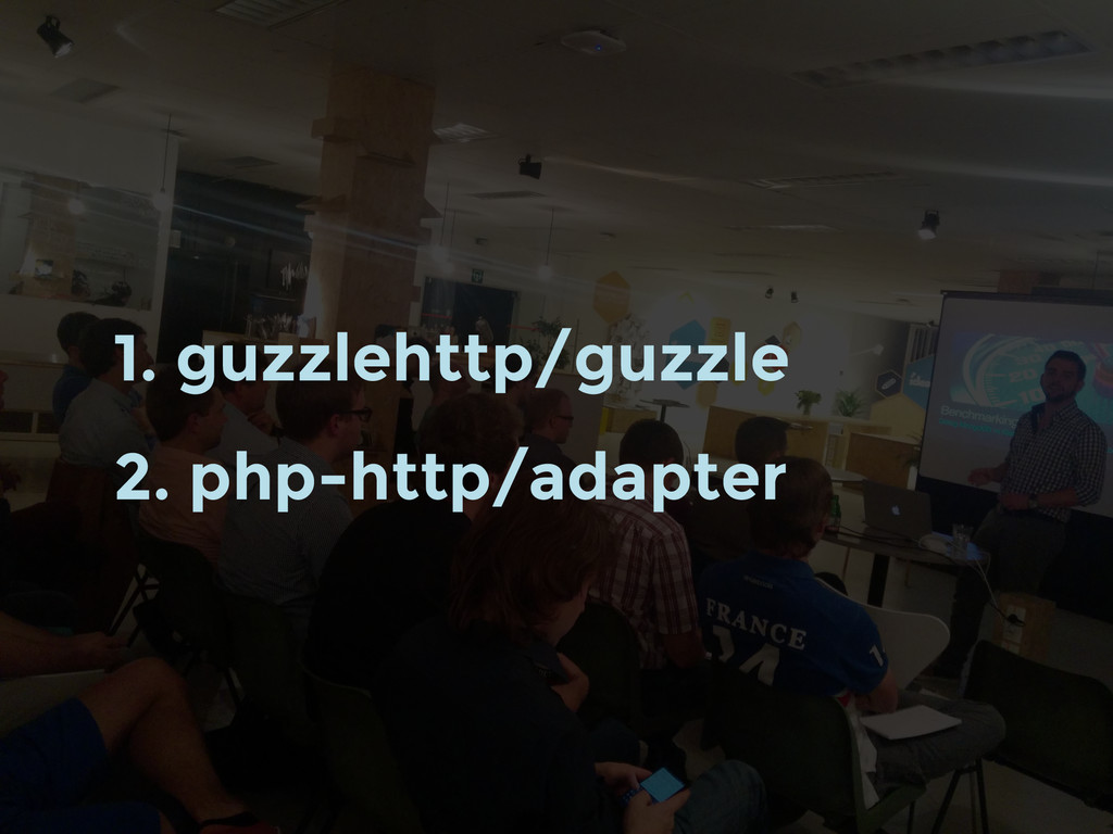 1. guzzlehttp/guzzle 2. php-http/adapter