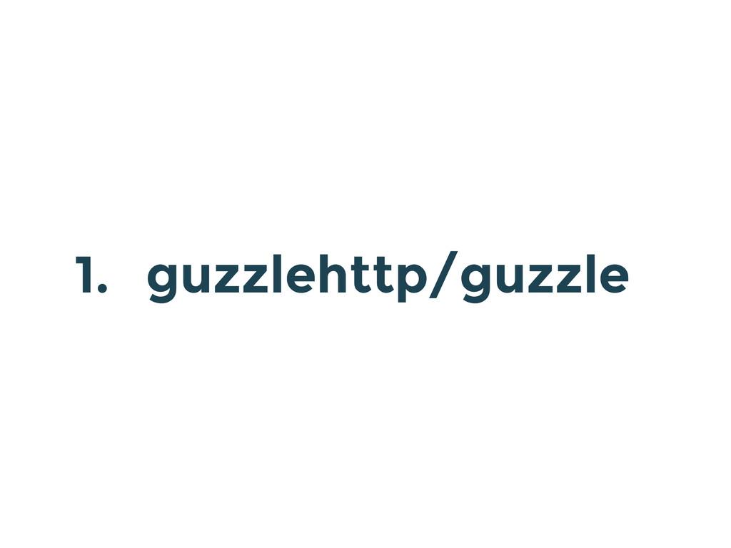 1. guzzlehttp/guzzle