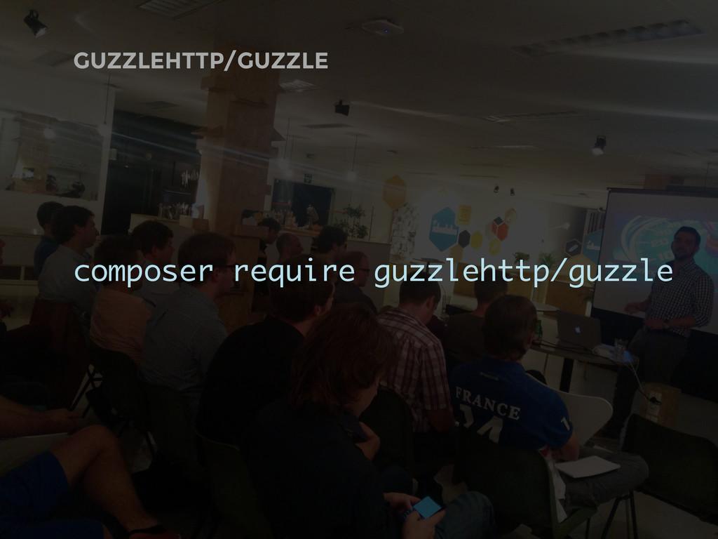 GUZZLEHTTP/GUZZLE composer require guzzlehttp/g...