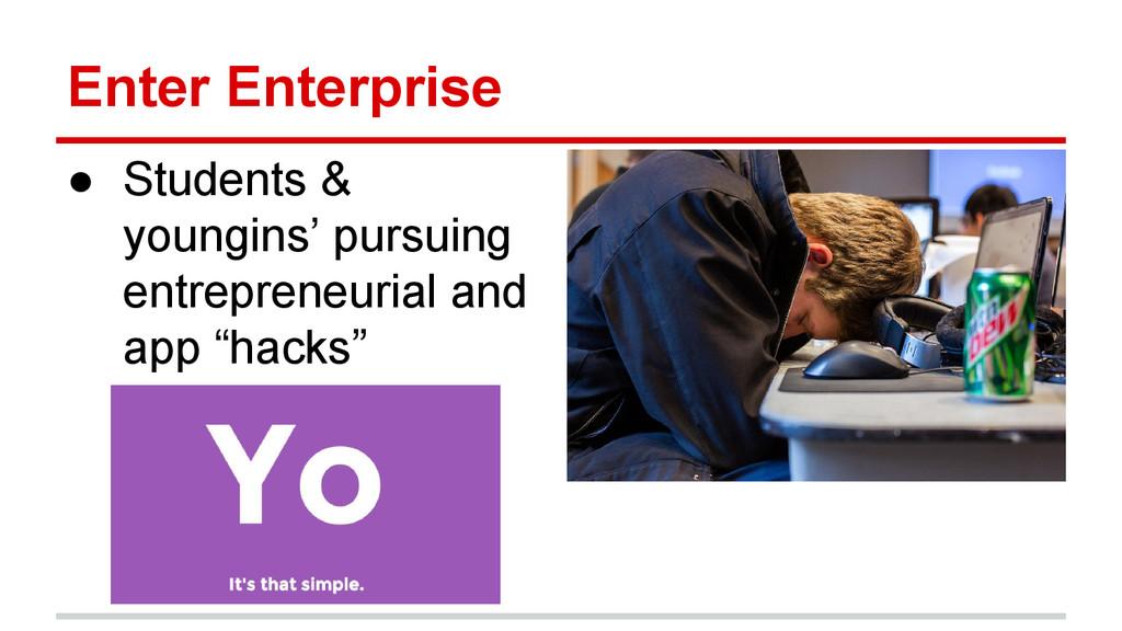 Enter Enterprise ● Students & youngins' pursuin...