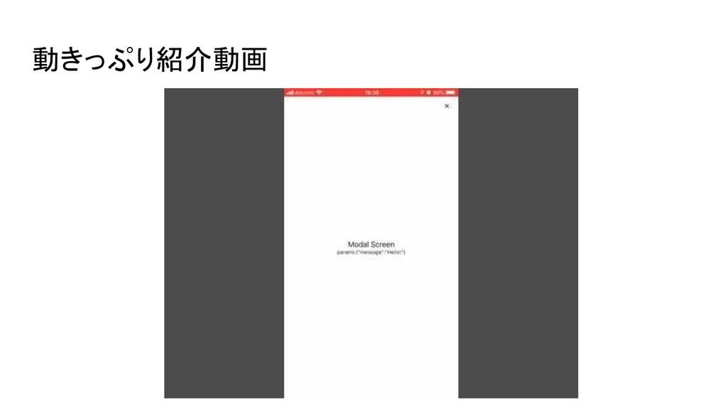 動きっぷり紹介動画